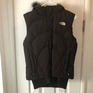 The North Face 600 Goose down vest w/Faux fur